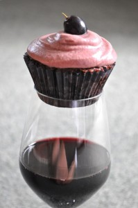 wine cupcake